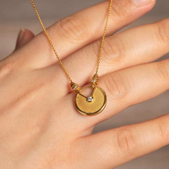 Mücevher Dünyası - 22 Ayar Altın Taşlı Kolye - 4,82 Gr.