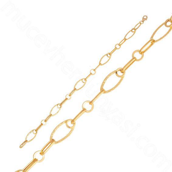 Mücevher Dünyası - 22 Ayar Altın Zincir Bileklik - 3,50 Gr.
