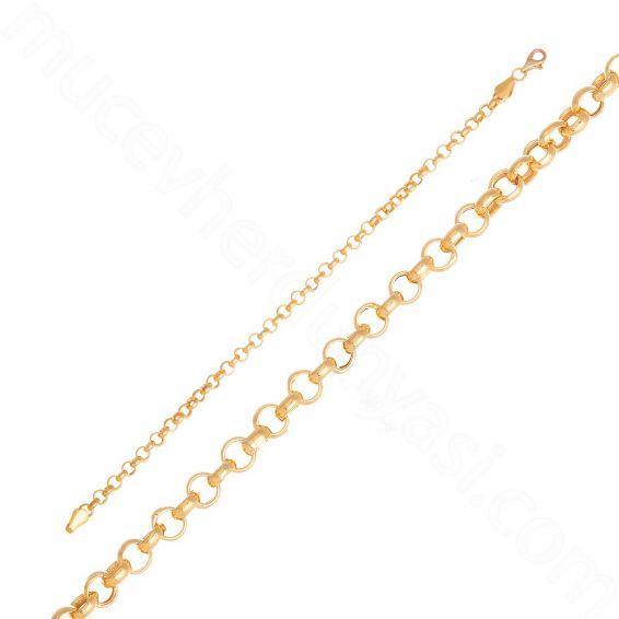Mücevher Dünyası - 22 Ayar Altın Zincir Bileklik - 4,28 Gr.