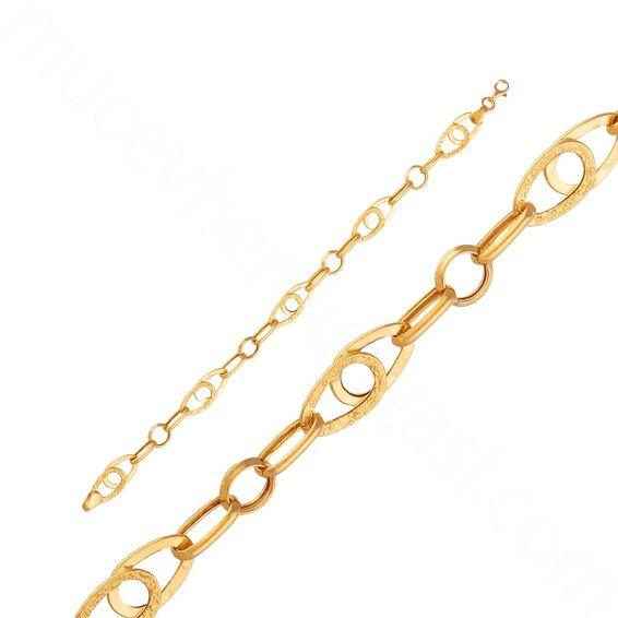 Mücevher Dünyası - 22 Ayar Altın Zincir Bileklik - 6,61 Gr.