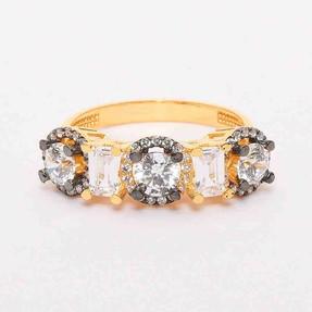 Mücevher Dünyası - 22 Ayar Baget Beştaş Altın Yüzük | Mücevher Dünyası