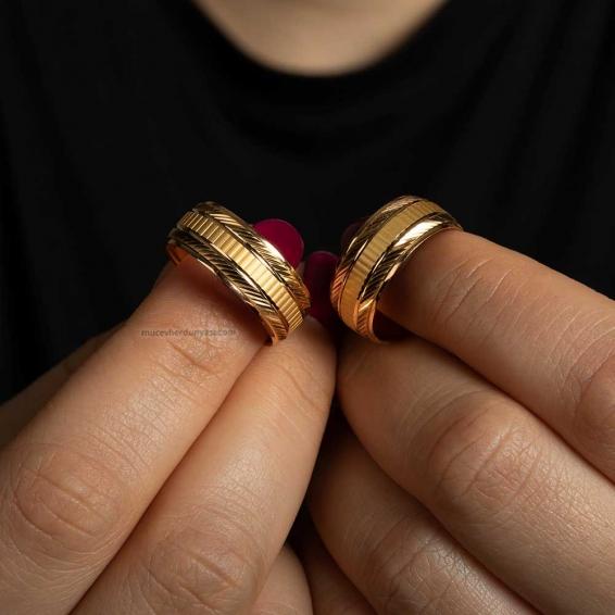 22 Ayar Kadın Altın Alyans - 2,30 Gr. - 11