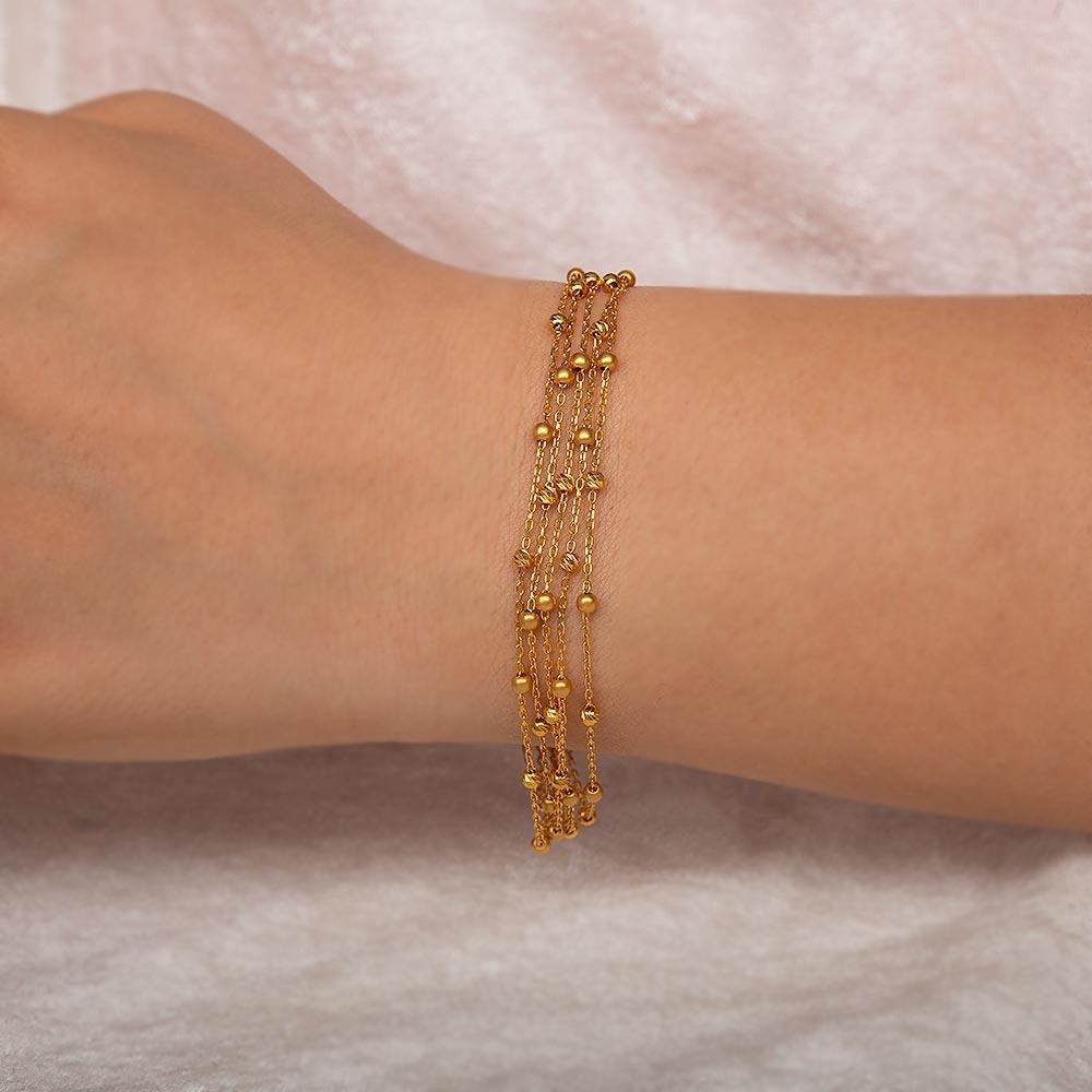 Mücevher Dünyası - 22 Ayar Beş Sıra Dorika Altın Bileklik - 7,53 Gr. - 20 Cm.