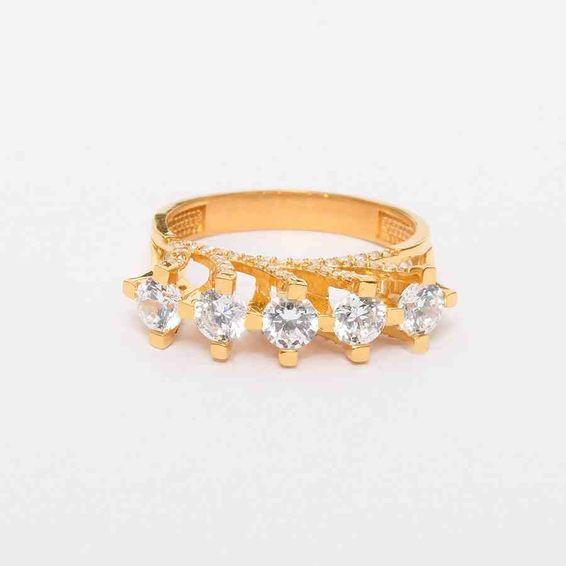 22 Ayar Beştaş Altın Yüzük   Mücevher Dünyası