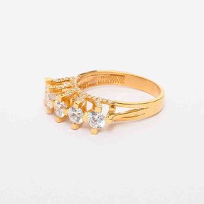22 Ayar Beştaş Altın Yüzük   Mücevher Dünyası - Thumbnail