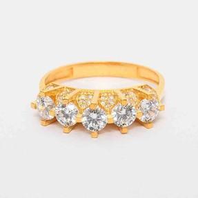 Mücevher Dünyası - 22 Ayar Beştaş Altın Yüzük | Mücevher Dünyası