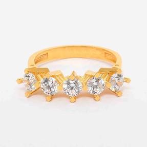 - 22 Ayar Beştaş Altın Yüzük   Mücevher Dünyası