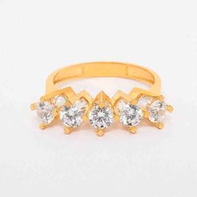 - 22 Ayar Beştaş Altın Yüzük | Mücevher Dünyası
