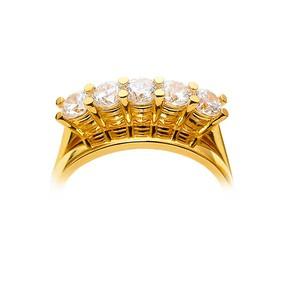 22 Ayar Beştaş Altın Yüzük | Mücevher Dünyası - Thumbnail