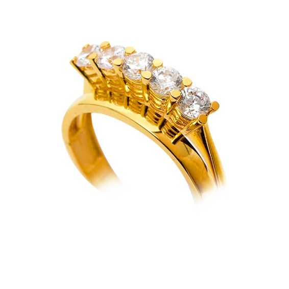 22 Ayar Beştaş Altın Yüzük | Mücevher Dünyası