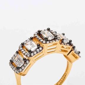 - 22 Ayar Beştaş Baget Altın Yüzük   Mücevher Dünyası