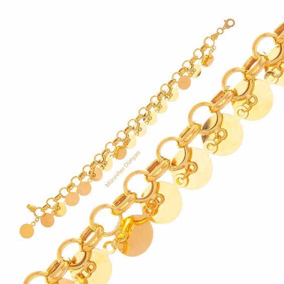 Mücevher Dünyası - 22 Ayar Büyük Pullu Altın Bileklik - 12,58 Gr.
