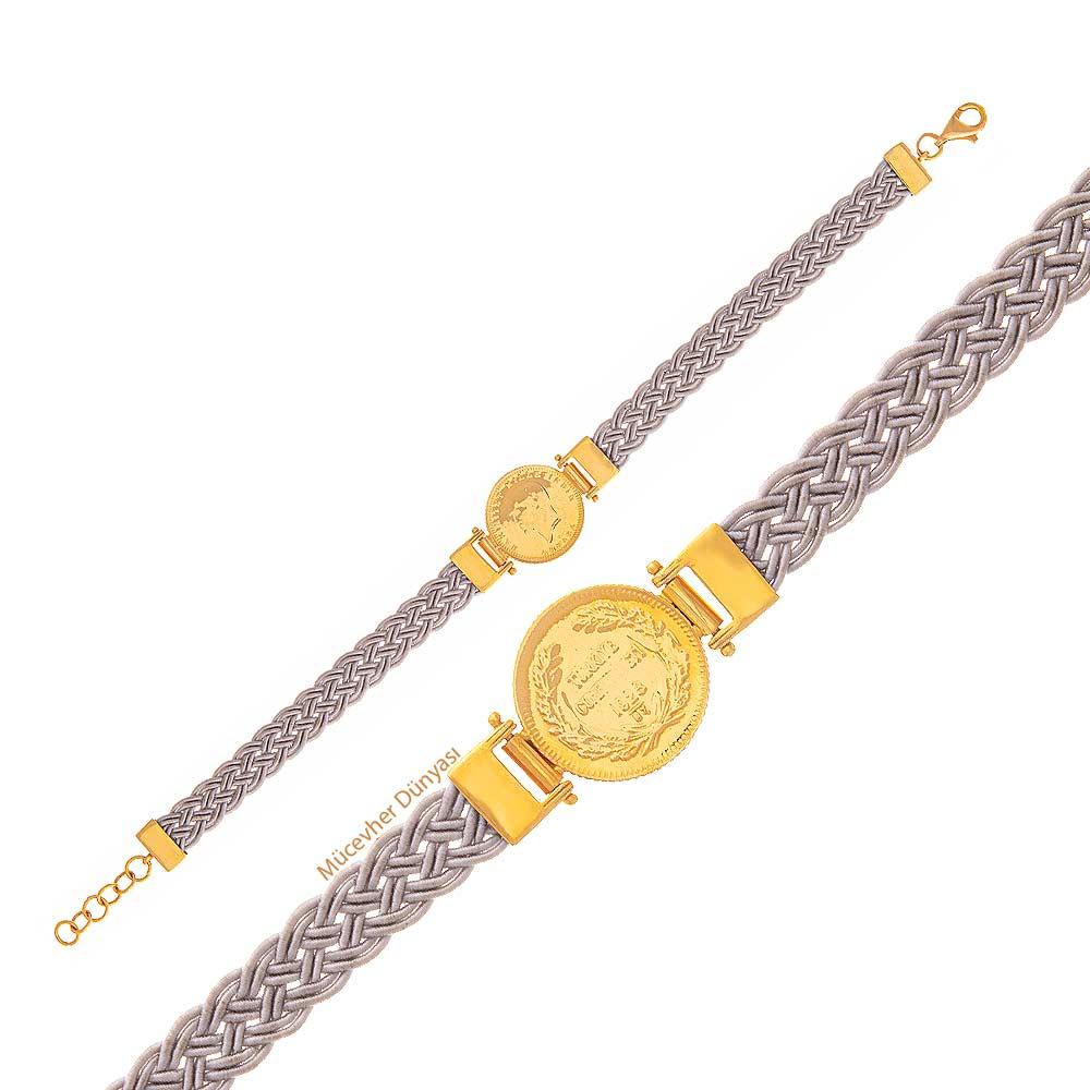Mücevher Dünyası - 22 Ayar Çeyrekli Altın Bileklik - 6,43 Gr.