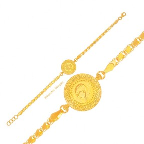 Mücevher Dünyası - 22 Ayar Çeyrekli Altın Bileklik - 7,05 Gr.