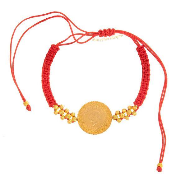 Mücevher Dünyası - 22 Ayar Çeyrekli Dorika Altın Bileklik - 3,17 Gr.
