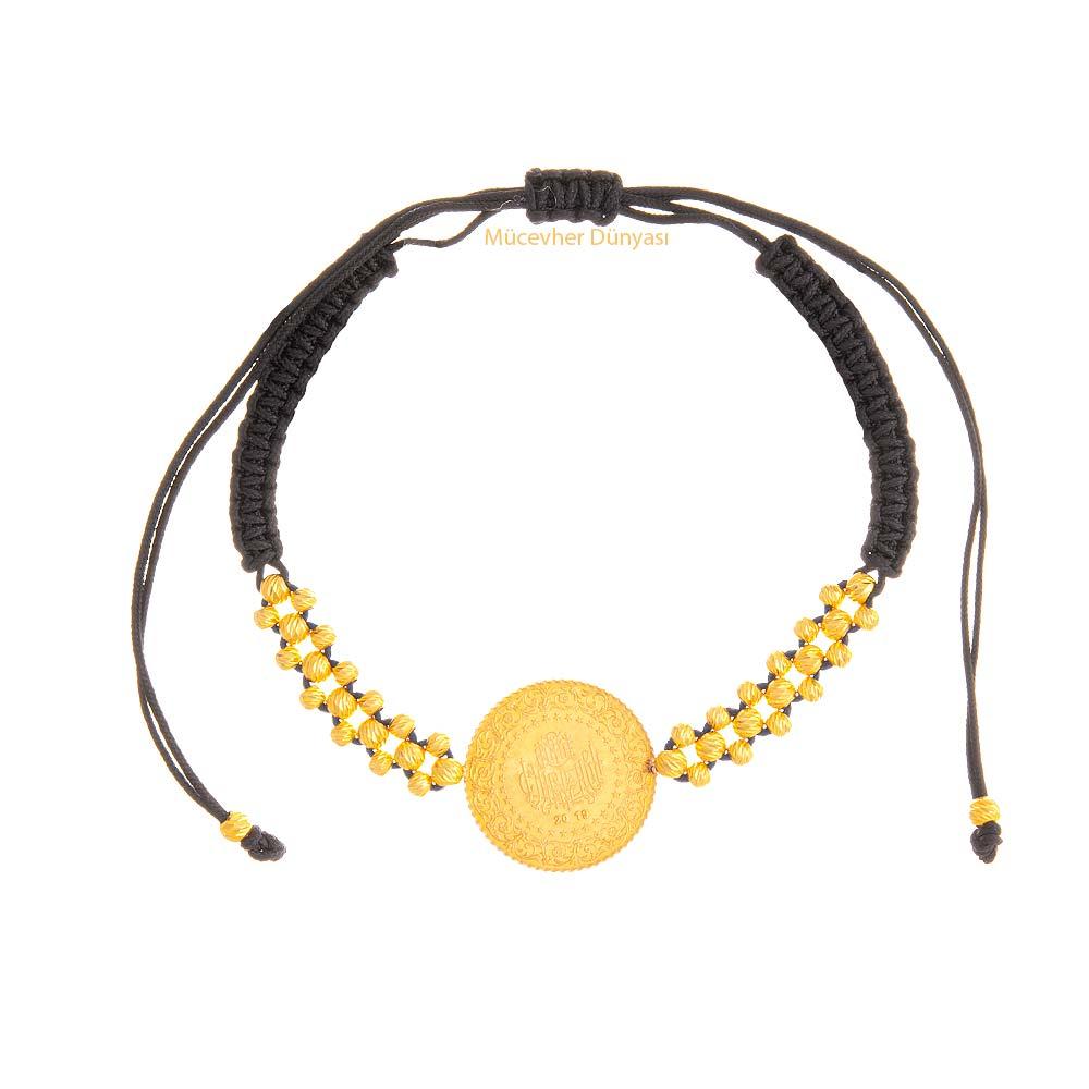 Mücevher Dünyası - 22 Ayar Çeyrekli Dorika Altın Bileklik - 4,19 Gr.