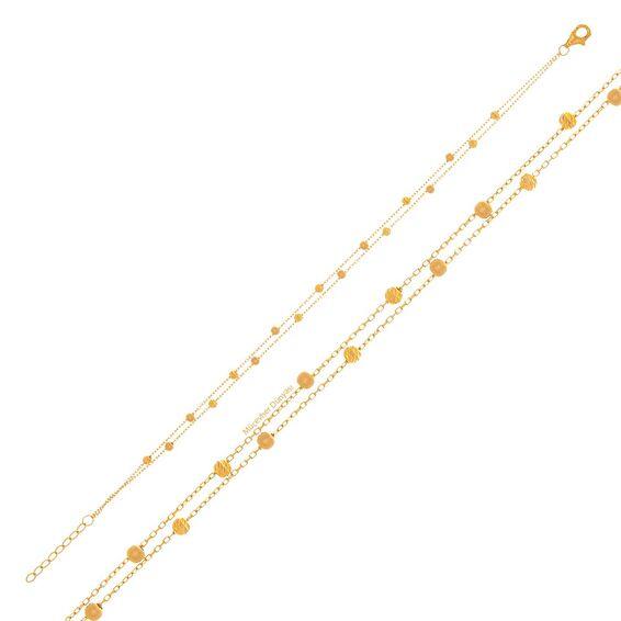 Mücevher Dünyası - 22 Ayar Çift Sıra Dorika Altın Bileklik - 2,31 Gr.