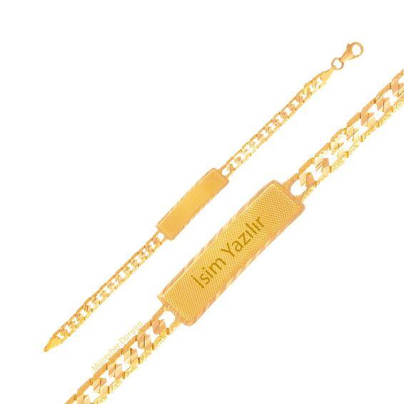 Mücevher Dünyası - 22 Ayar Çocuk Altın Künye - 9,38 Gr.