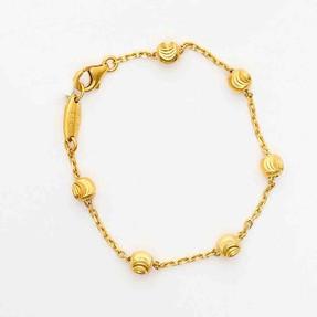 Mücevher Dünyası - 22 Ayar Çocuklar İçin Dorika Toplu Altın Bileklik | Mücevher Dünyası