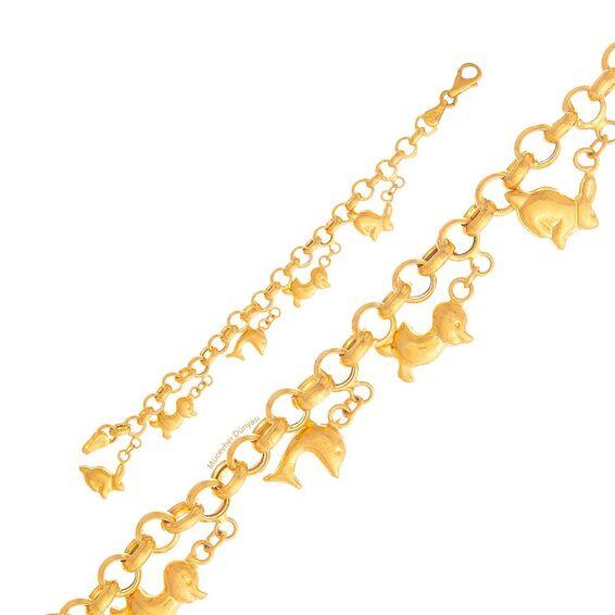 Mücevher Dünyası - 22 Ayar Çocuklar İçin Hayvan Figürlü Altın Bileklik - 8,35 Gr.