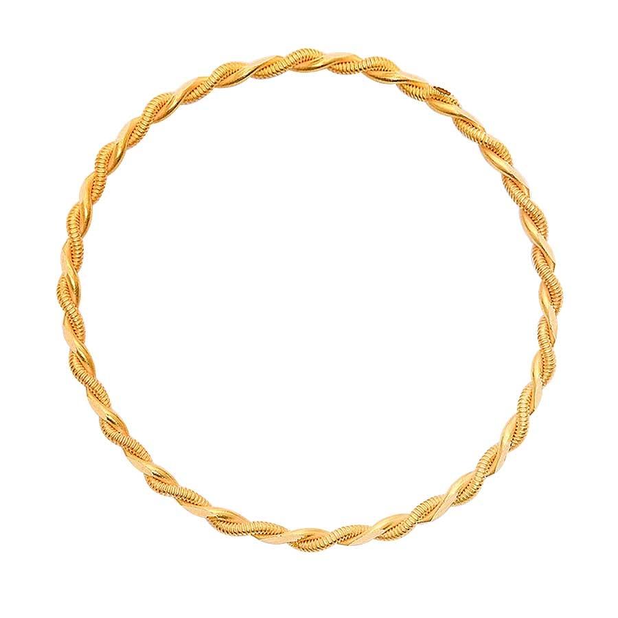 Mücevher Dünyası - 22 Ayar Çocuklar İçin Örme Altın Bilezik & Kelepçe - 6,18 Gr.