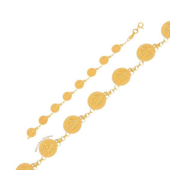 Mücevher Dünyası - 22 Ayar Çocuklar İçin Reşat Liralı Altın Bileklik - 4,29 Gr.