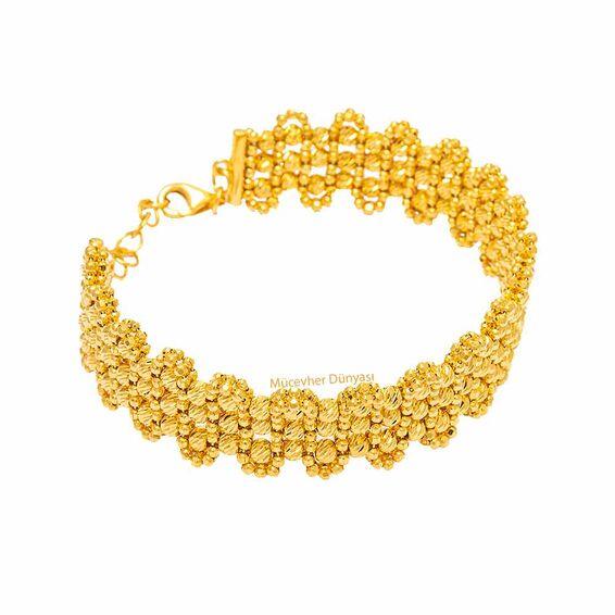 Mücevher Dünyası - 22 Ayar Dorika Toplu Tasarım Altın Kelepçe - 25,97 Gr.