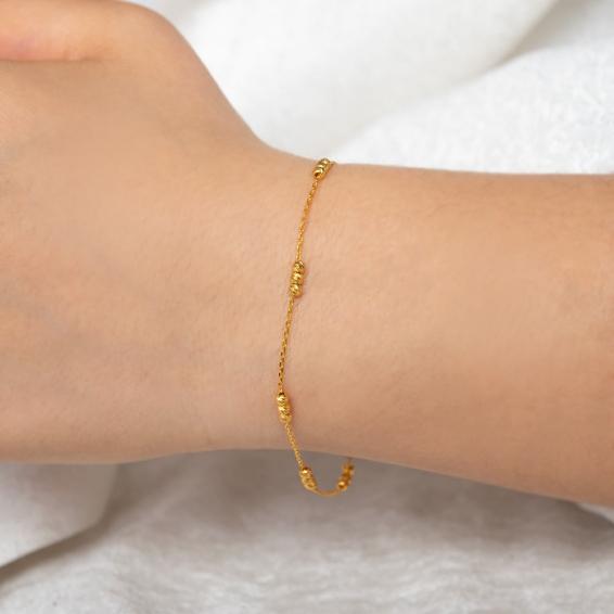 Mücevher Dünyası - 22 Ayar Dorika Altın Bileklik - 2,19 Gr. - 18,5 Cm.