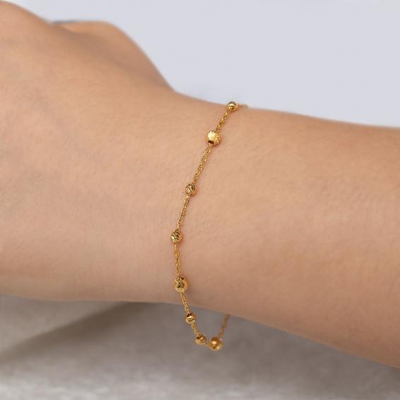 Mücevher Dünyası - 22 Ayar Dorika Altın Bileklik - 3,59 Gr. - 20 Cm.