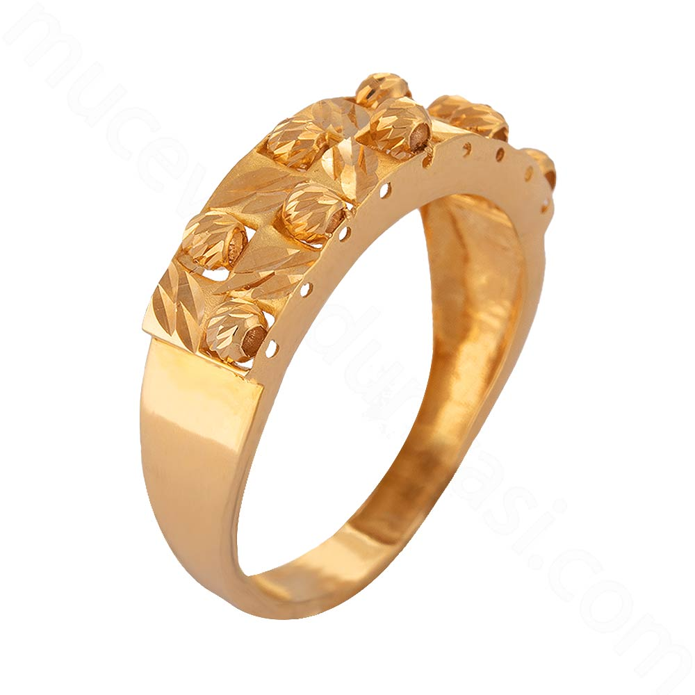 Mücevher Dünyası - 22 Ayar Dorika Altın Fantezi Yüzük - 2,97 Gr.