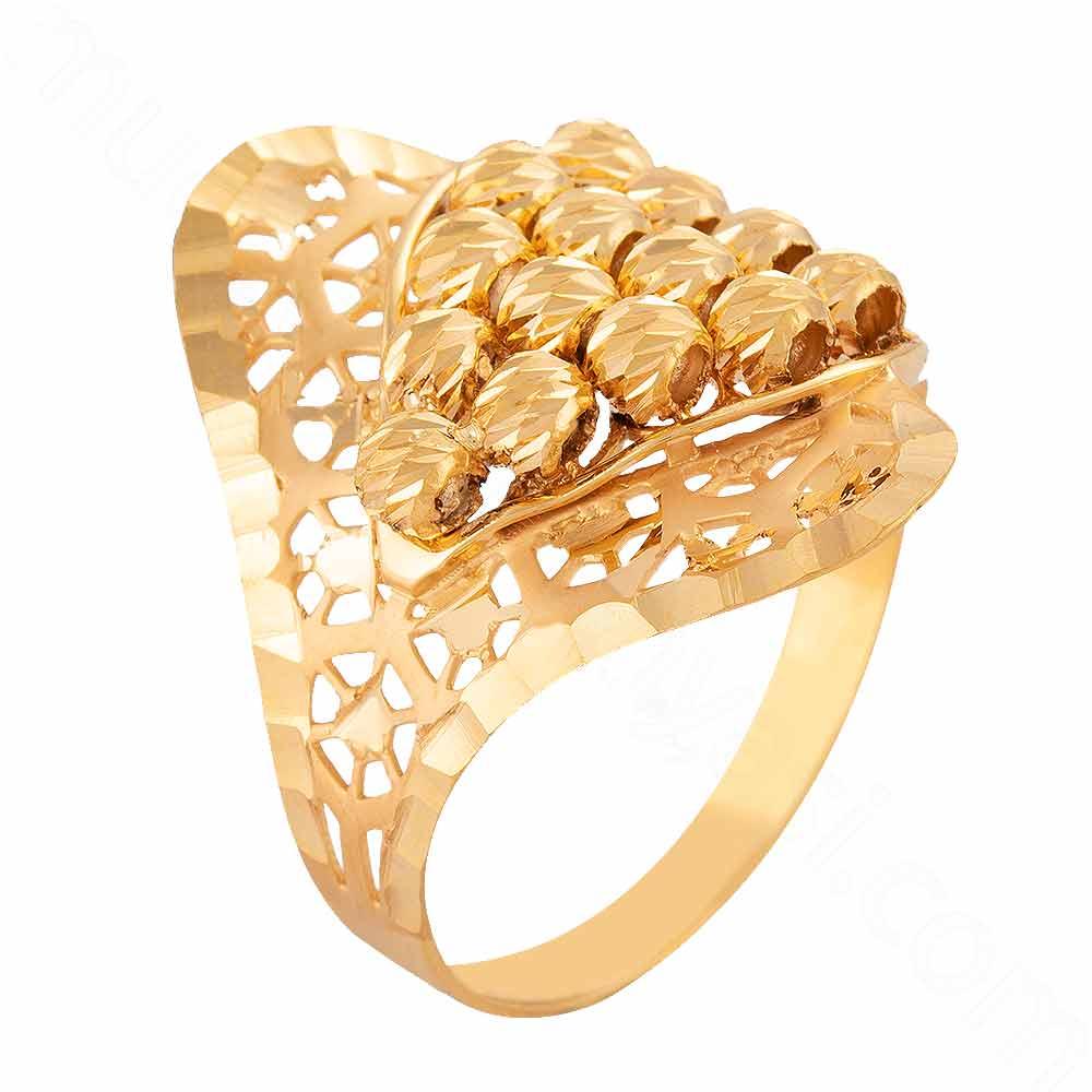 Mücevher Dünyası - 22 Ayar Dorika Altın Fantezi Yüzük - 3,61 Gr.