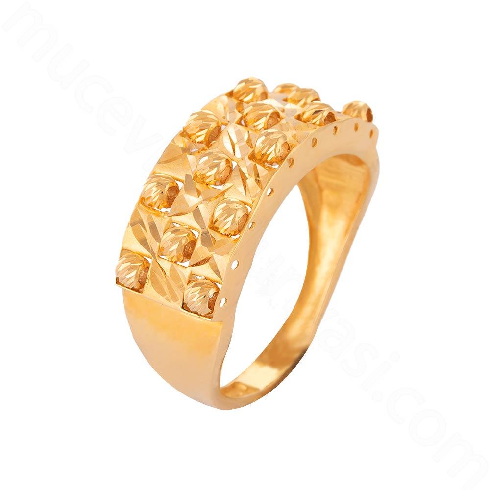 Mücevher Dünyası - 22 Ayar Dorika Altın Fantezi Yüzük - 3,87 Gr.