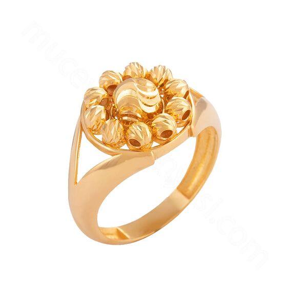 Mücevher Dünyası - 22 Ayar Dorika Altın Fantezi Yüzük - 4,62 Gr.