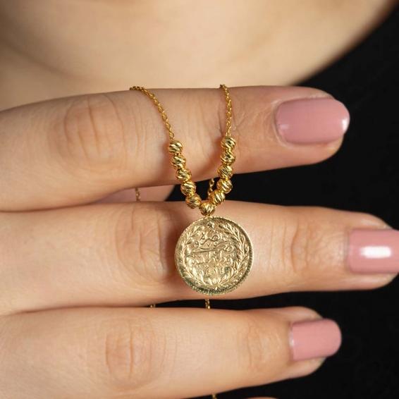 Mücevher Dünyası - 22 Ayar Dorika Altın Kolye - 5,05 Gr.