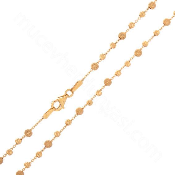 Mücevher Dünyası - 22 Ayar Dorika Toplu Altın Zincir - 100 Cm - 14,95 Gr.