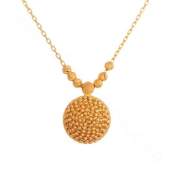 Mücevher Dünyası - 22 Ayar Dorika Toplu Özel Tasarım Altın Kolye - 7,07 Gr.