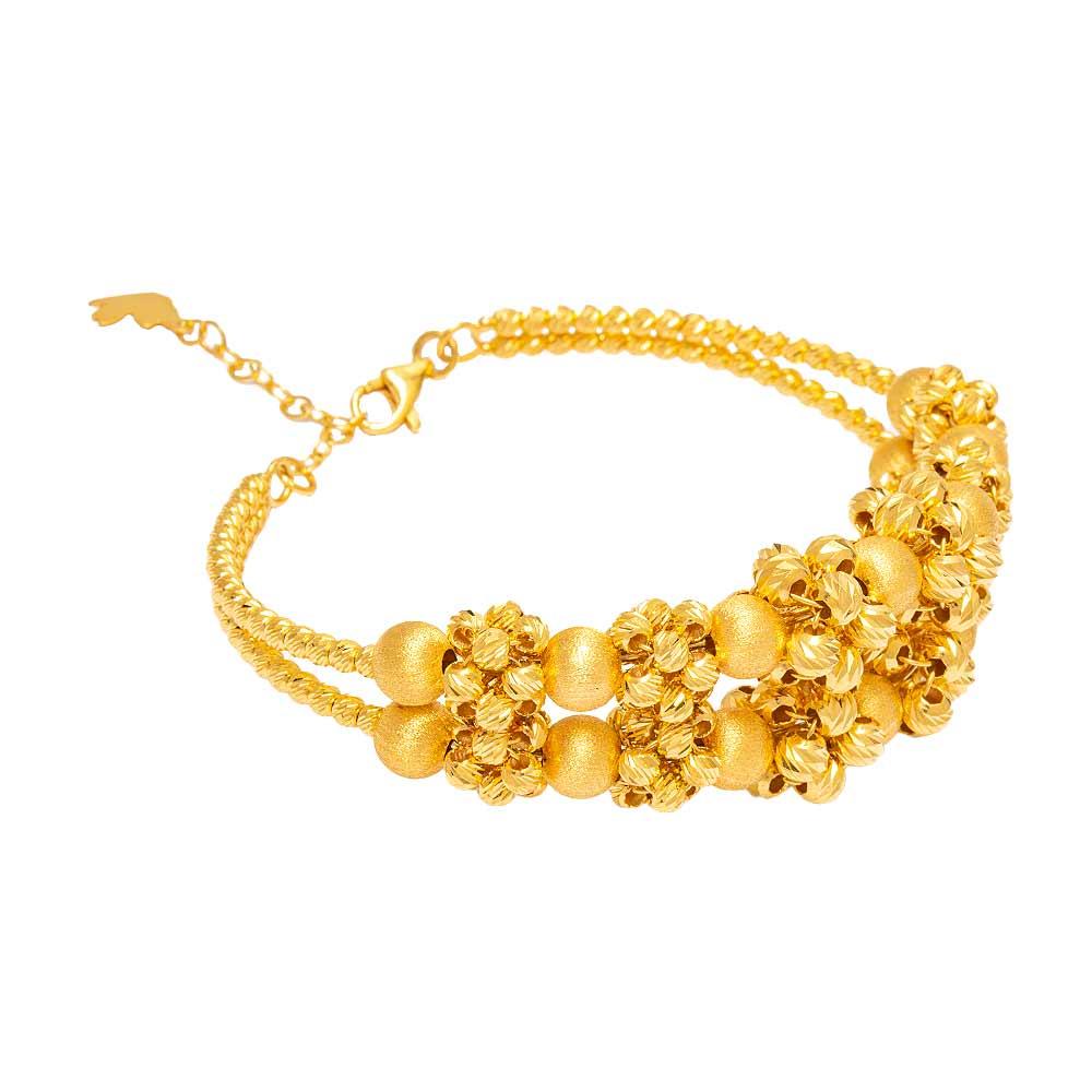 Mücevher Dünyası - 22 Ayar Dorika Toplu Tasarım Altın Kelepçe - 31.69 Gr.