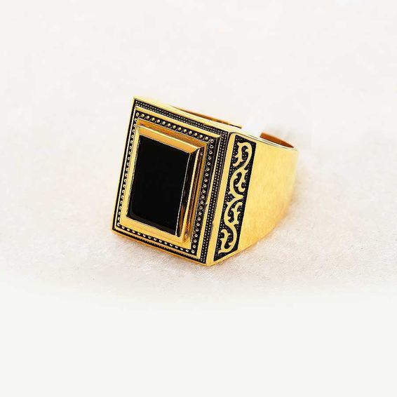 Mücevher Dünyası - 22 Ayar Altın Erkek Yüzük - 14,06 Gr.