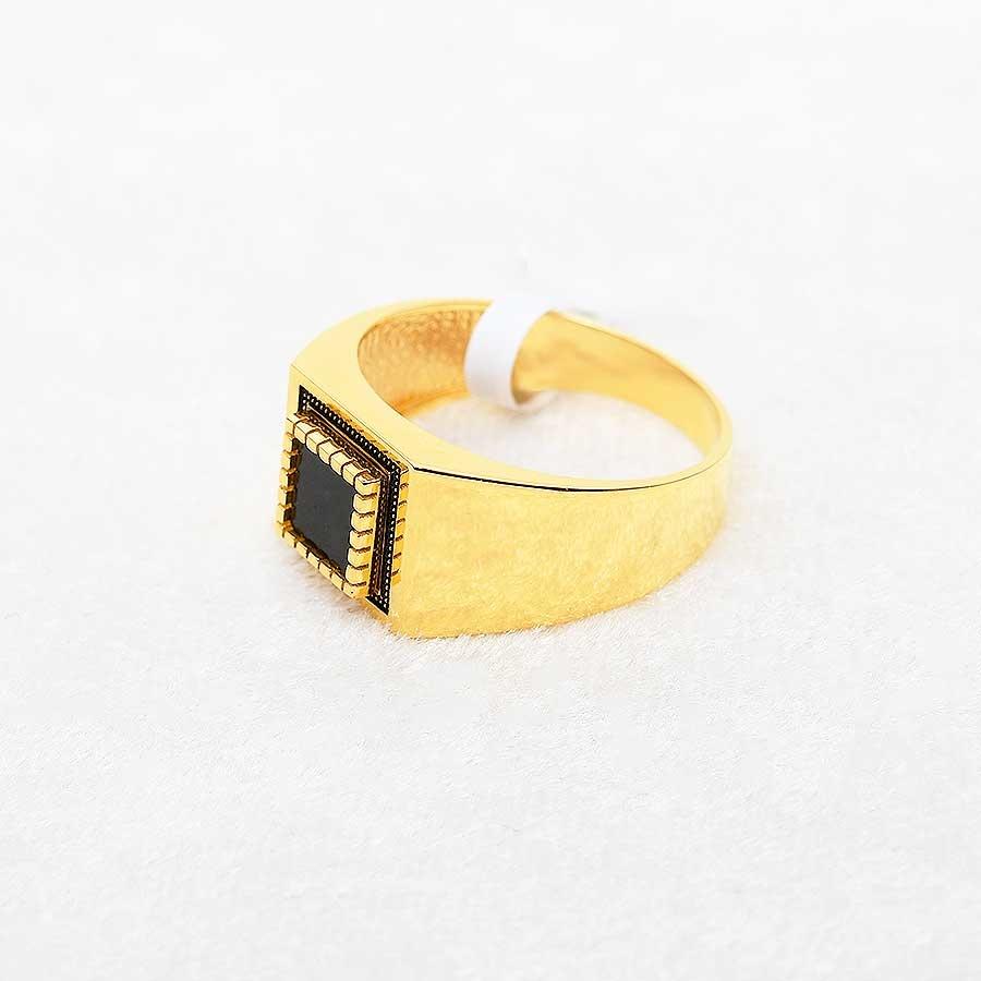 Mücevher Dünyası - 22 Ayar Erkek Altın Yüzük - 7.72 Gr.