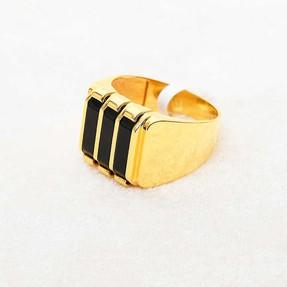 Mücevher Dünyası - 22 Ayar Erkek Altın Yüzük - 12.48 Gr.