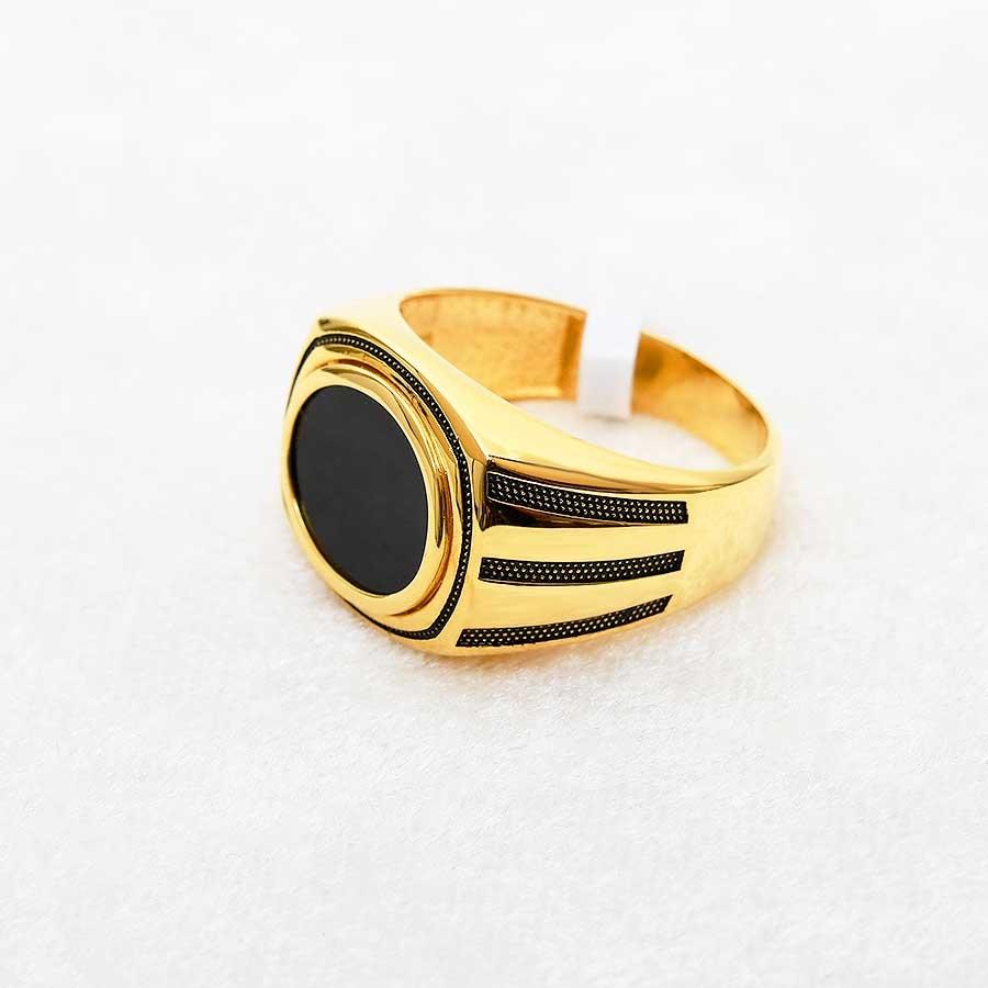 Mücevher Dünyası - 22 Ayar Erkek Altın Yüzük - 12.63 Gr.