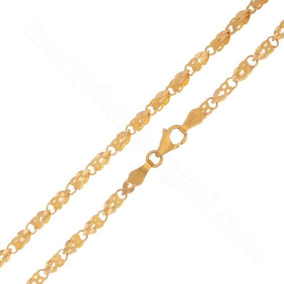 Mücevher Dünyası - 22 Ayar Erkek Altın Zincir 47 Cm - 13,69 Gr.