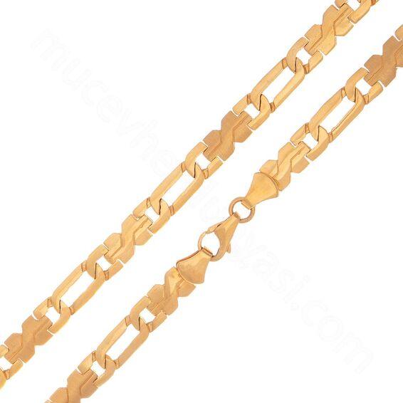 Mücevher Dünyası - 22 Ayar Erkek Altın Zincir 50.00 Cm - 35,24 Gr.