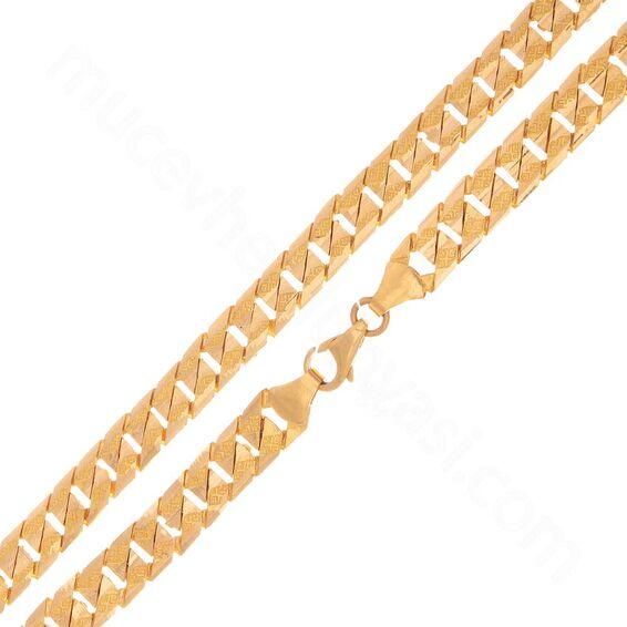 Mücevher Dünyası - 22 Ayar Erkek Altın Zincir 50.00 Cm - 38,20 Gr.