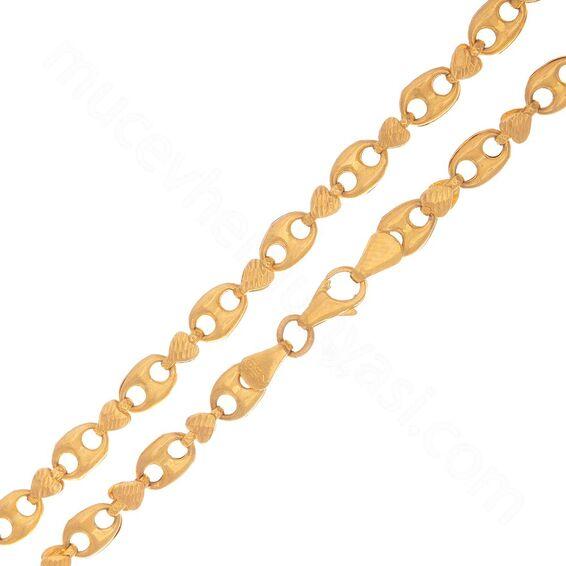 Mücevher Dünyası - 22 Ayar Erkek Altın Zincir - 55 Cm - 20,65 Gr.