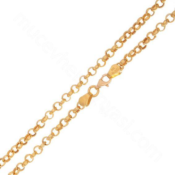 Mücevher Dünyası - 22 Ayar Erkek Altın Zincir 52.00 Cm - 10,87 Gr.