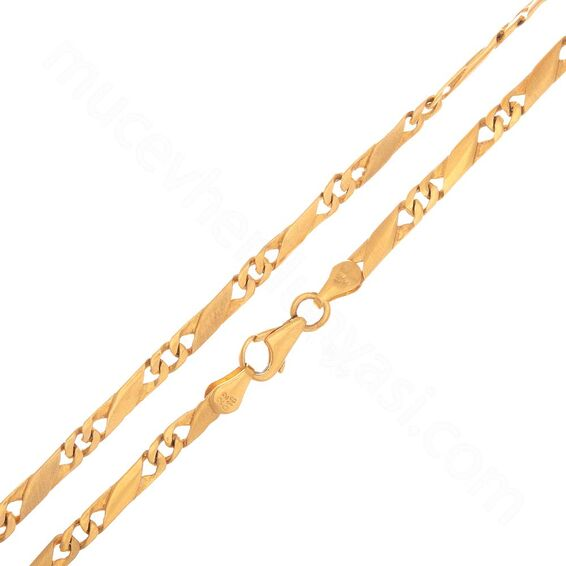 Mücevher Dünyası - 22 Ayar Erkek Altın Zincir - 60 Cm - 23,74 Gr.