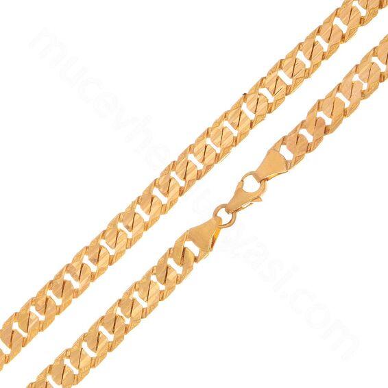 Mücevher Dünyası - 22 Ayar Erkek Altın Zincir - 51 Cm. - 38,36 Gr. - 7 Mm.