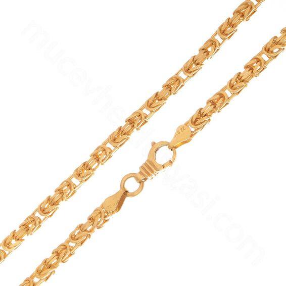 Mücevher Dünyası - 22 Ayar Kral Tasarım Erkek Altın Zincir 65 Cm - 63,23 Gr.