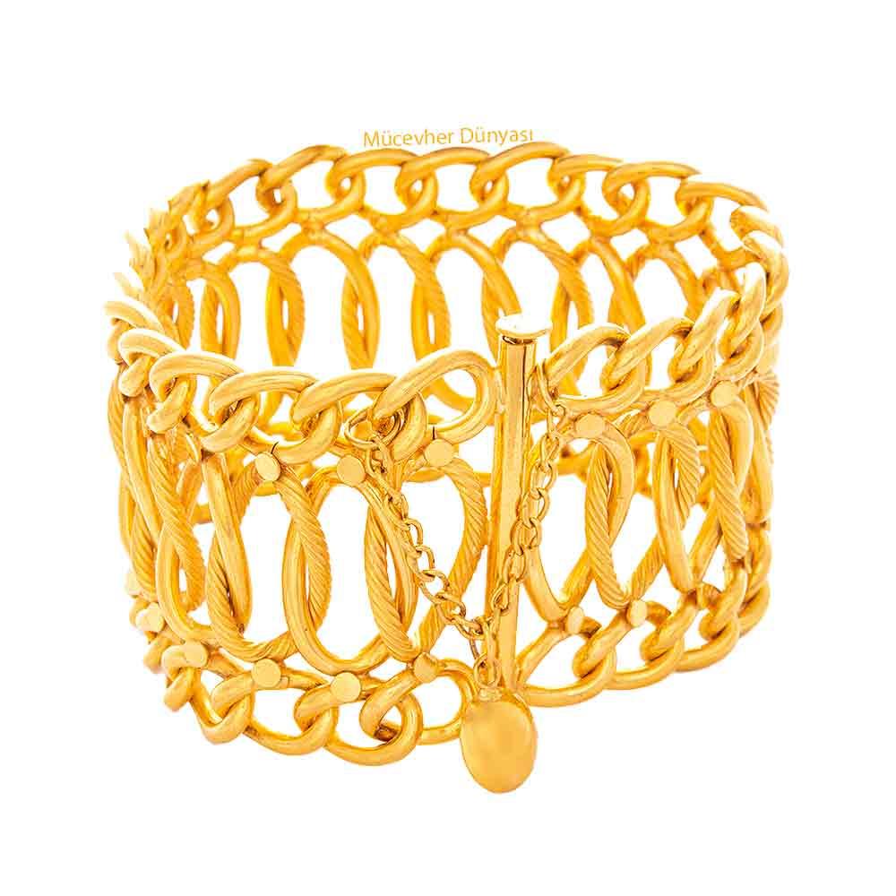 Mücevher Dünyası - 22 Ayar Fidan Altın Bileklik - 48.36 Gr.